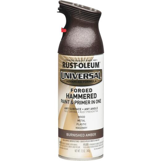 Rust-Oleum Universal 12 Oz. Hammered Gloss All-Surface Spray Paint, Burnished Amber